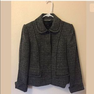 Anne Klein black white tweet blazer Sz 0